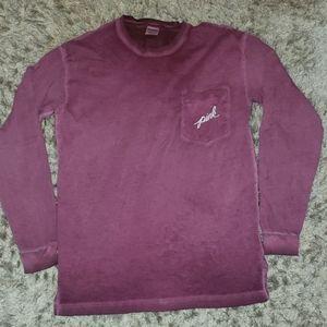 Pink victoria secret long sleeve campus t shirt